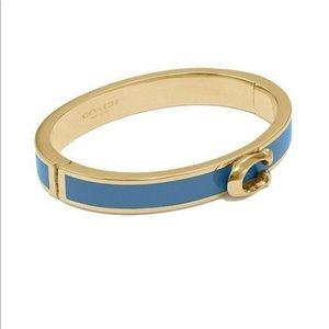 NWT Coach Enamel C logo Hinged bracelet